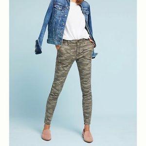 Anthro Hei Hei Slim Utility Camo Pants Sz 32 NWT